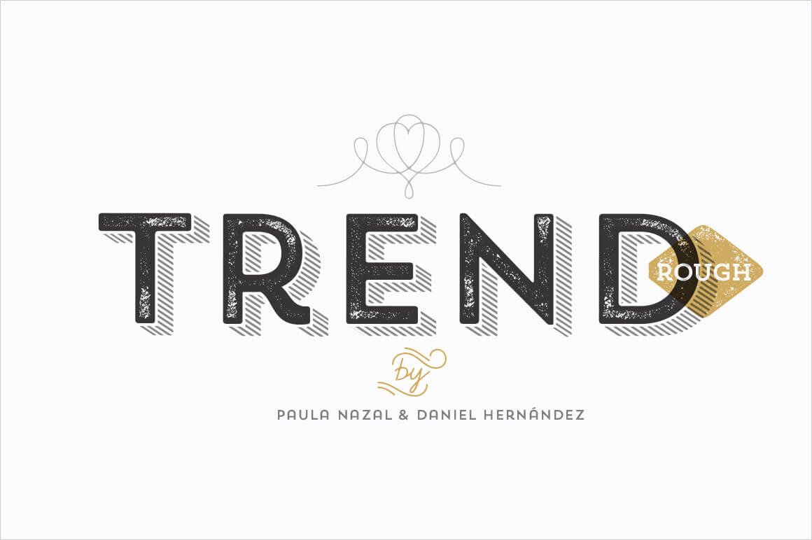 Trend Rough Font Family Includes 24 Fashionable Fonts Only 19 Mightydeals