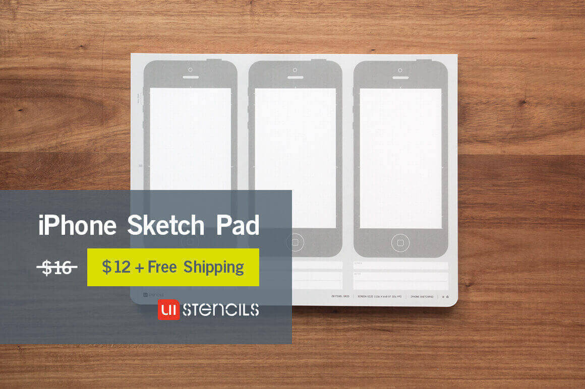 iPhone Silhouette App Design Sketch Pads - only $12 ...