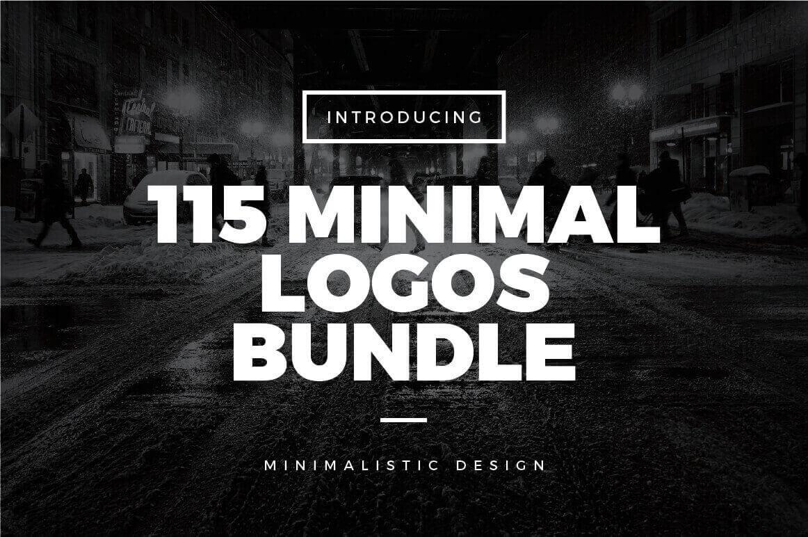 115 Minimal Vintage Logos Bundle - $7.50