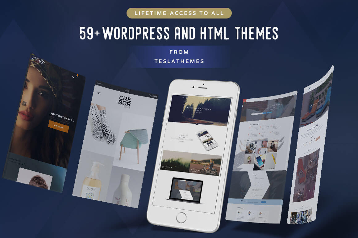 Lifetime Access to ALL WordPress & HTML Themes from TeslaThemes - $59!