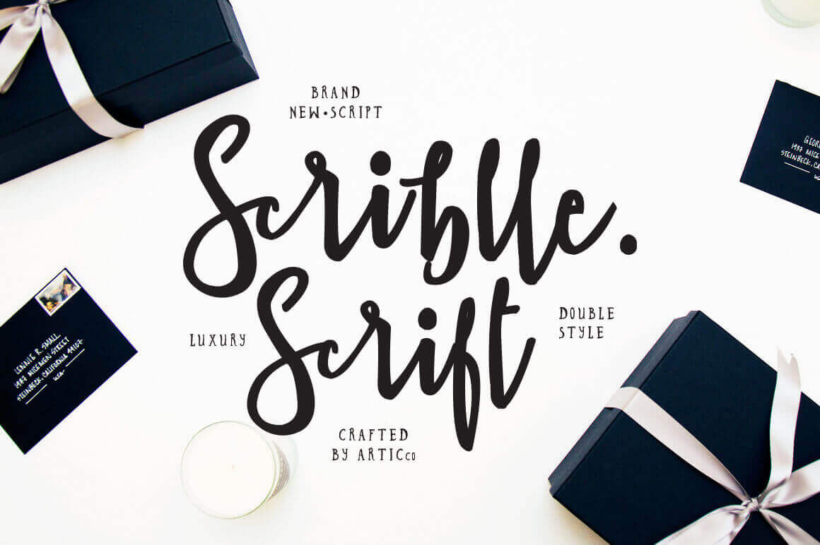 Luxurious Scriblle Script Handlettered Font in 2 Styles - only $7.5!
