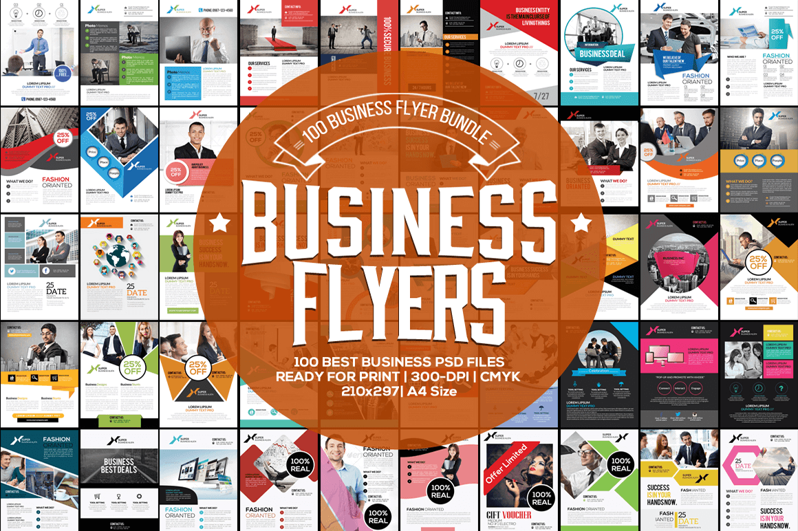 100 High-Quality Business Flyer Templates - only $17!