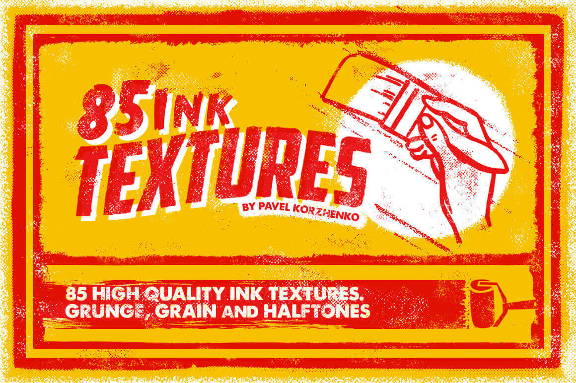 85 High-Quality Ink Textures from Vintage Voyage Design - only $5!