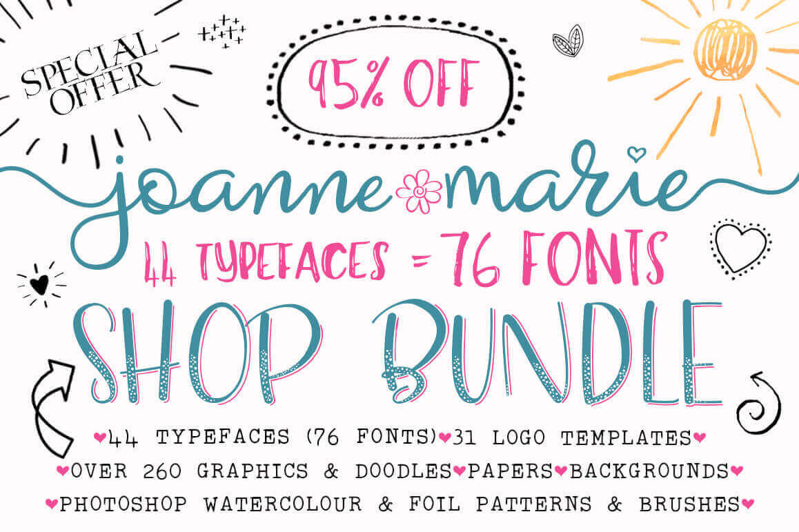 450+ Beautiful Design Elements by Joanne Marie - only $19!