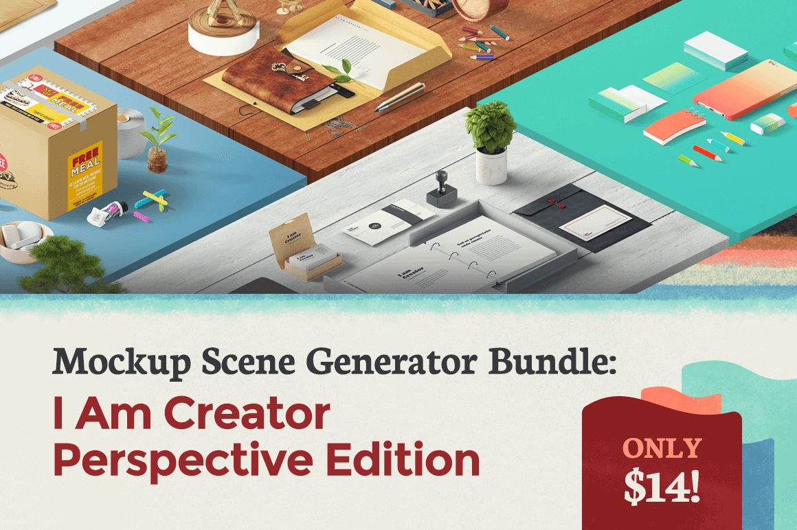 Mockup Scene Generator Bundle: I Am Creator Perspective Edition - only $14!