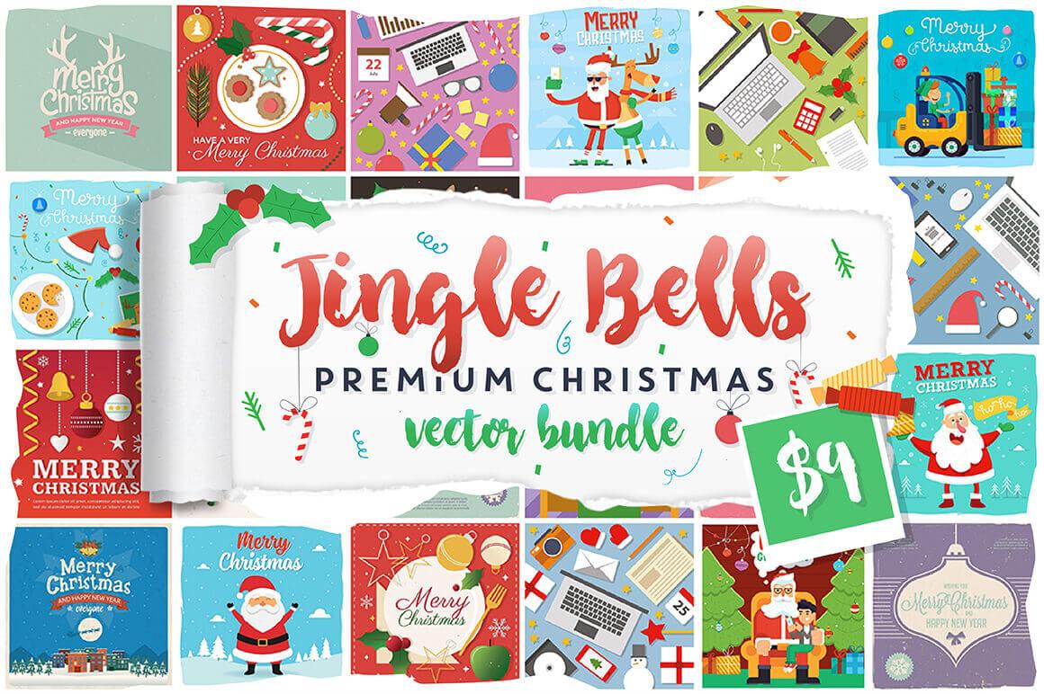 Jingle Bells Bundle: 125 Christmas Vectors
