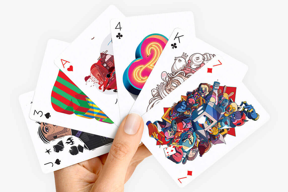 Beautiful Full-Color Deck of Playing Cards Illustrated by 55 ...