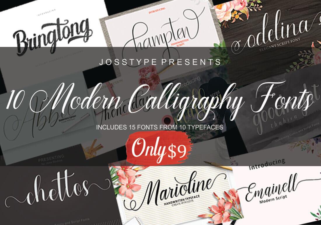10 elegant modern calligraphy fonts only $9! business legions blog