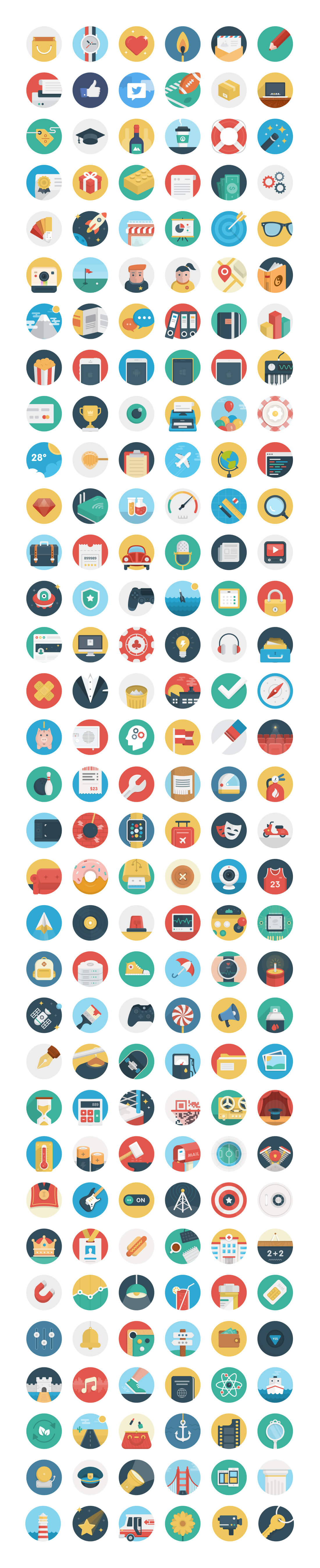 this really cute set covers a wide variety of categories including transportation food nature weather sports and more basic icons flat icons 1000