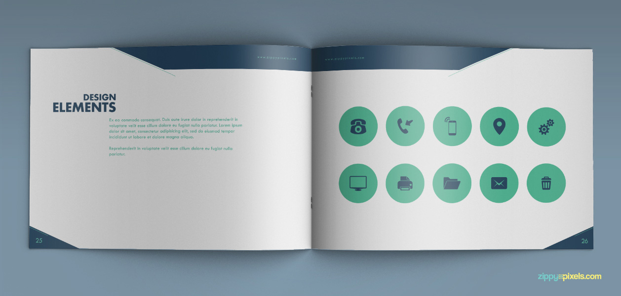 17 Brand Book 5 Design Elements Illustrated Icons