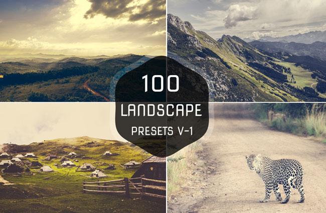 100 Landscape Lightroom Presets 1