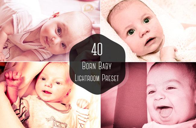 40 Born Baby Lightroom Presets 1