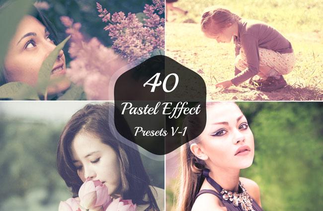40 Pastel Effect Lightroom Presets 1