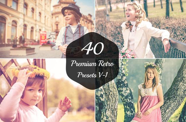 40 Retro Lightroom Presets 1
