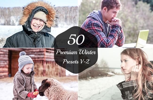 50 Premium Winter Lightroom Presets V 2 1