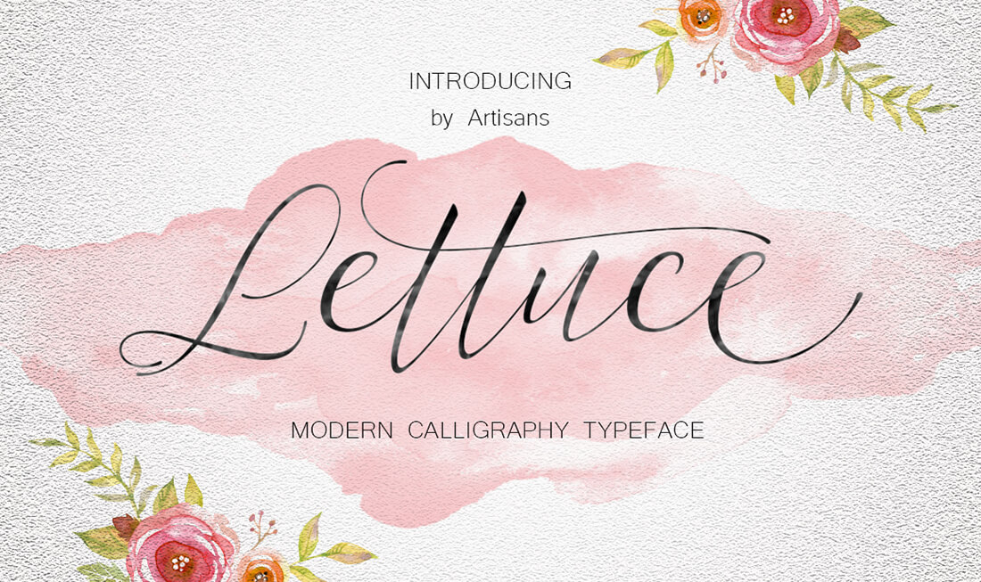 A perfect duo of beautiful modern calligraphy fonts only