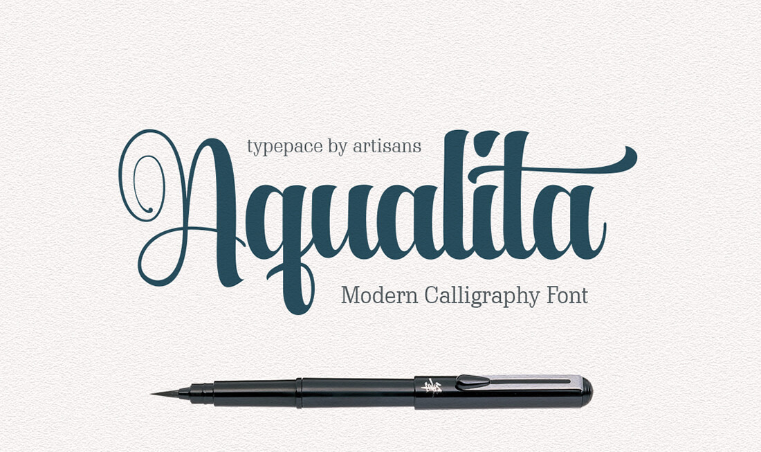 A perfect duo of beautiful modern calligraphy fonts only Modern script font