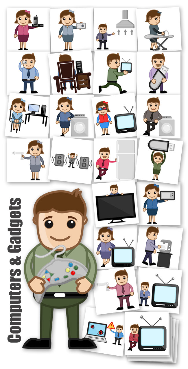 Computers N Gadgets Character Concept