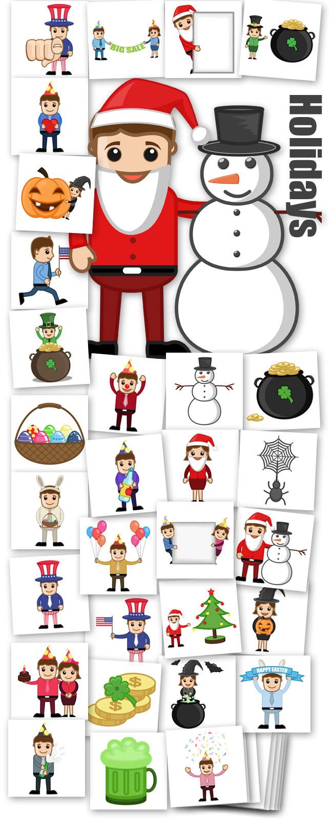 Holidays Cartoon Characters
