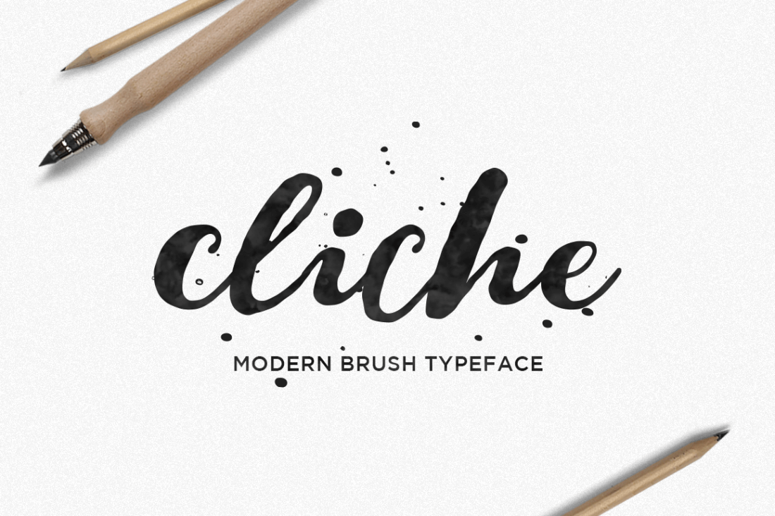 Cliche A Beautiful Hand Lettered Brush Font Only 7