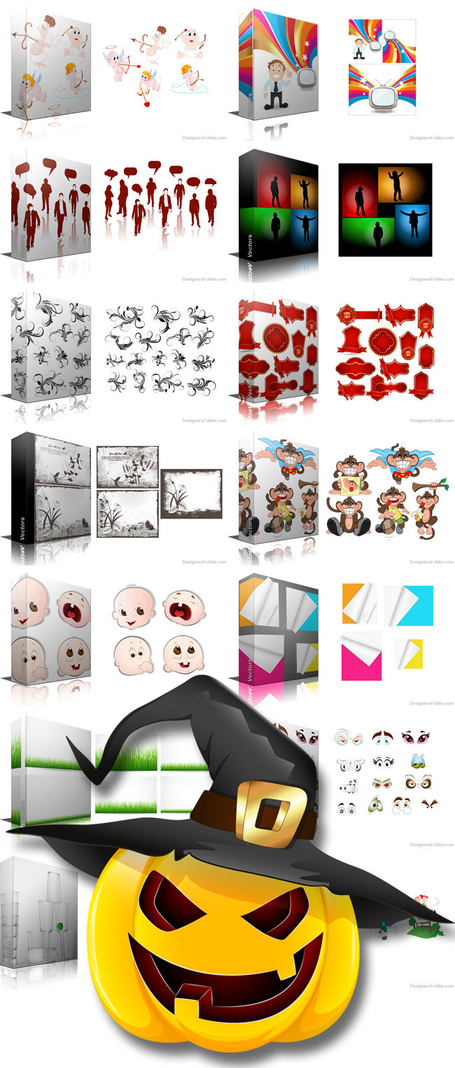 1000+ Royalty Free Vectors + 50 Free Textures
