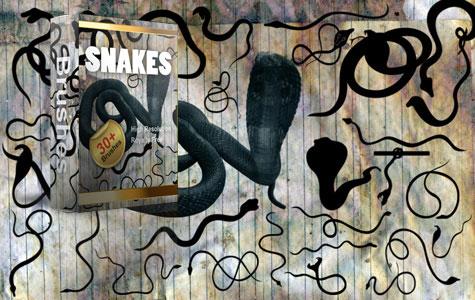 Snakes Halloween Brushes