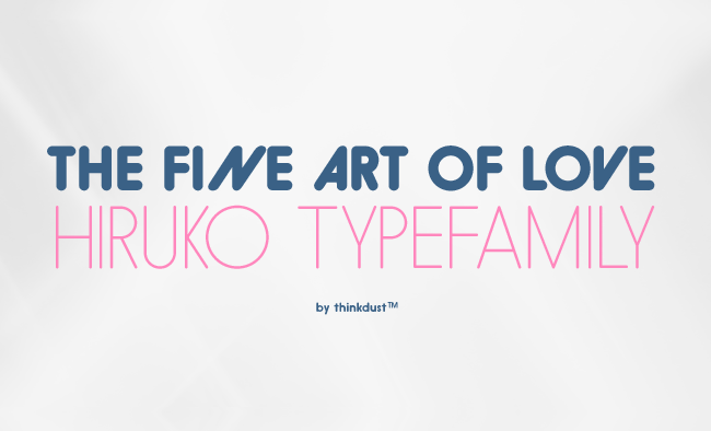 Hiruko: Japanese inspired font family – 97% discount