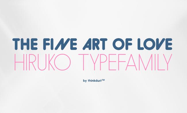 Hiruko: Japanese inspired font family – 97% discount
