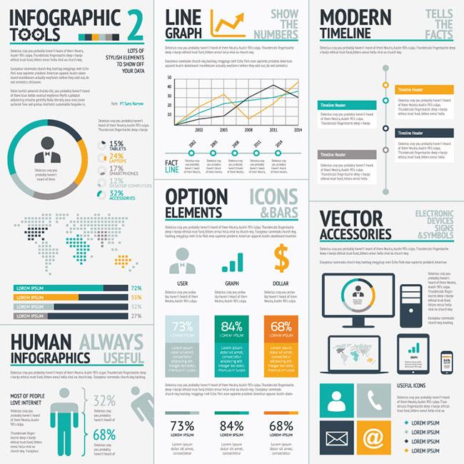 02 Infographic Elements Vector Big Set Options