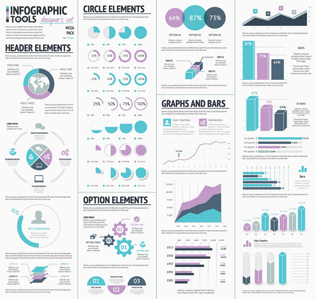 07 Infographic Vector Elements Designers Set