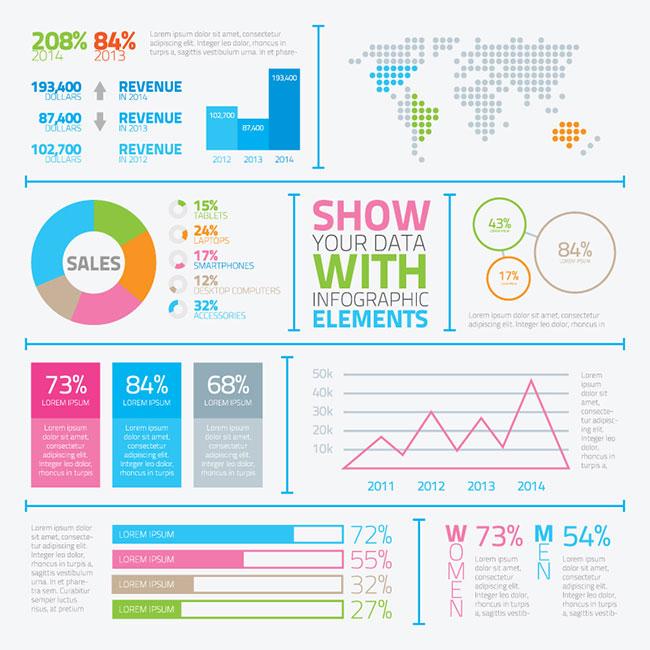 17 Typography Infographic Elements