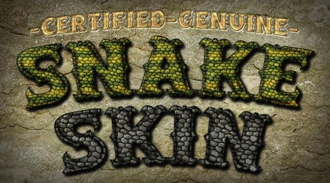 Snake Skin Photoshop
