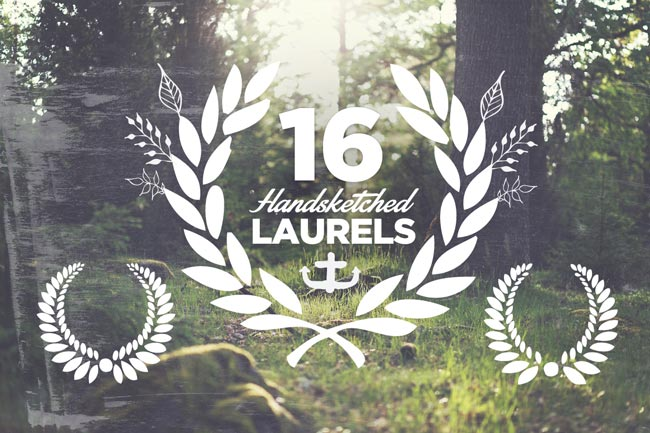 Handsketched Laurels 1