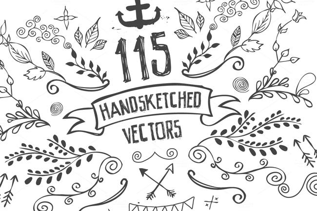 Handsketched Vec Elements 2