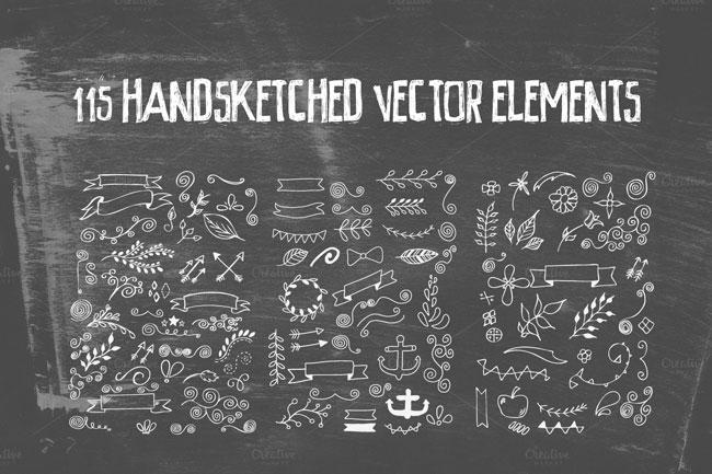 Handsketched Vec Elements 3