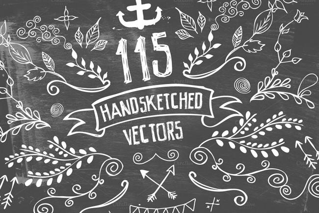 Handsketched Vec Elements 4