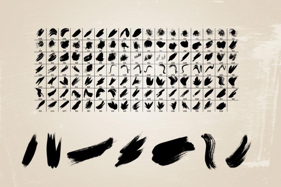 118 Watercolor Brushes