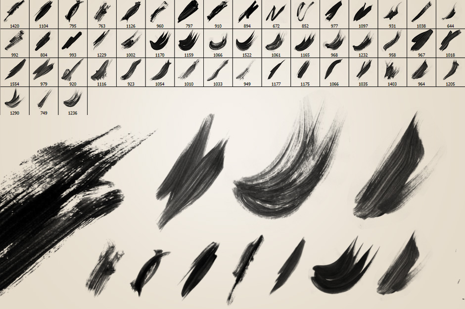 51 Watercolor Brushes