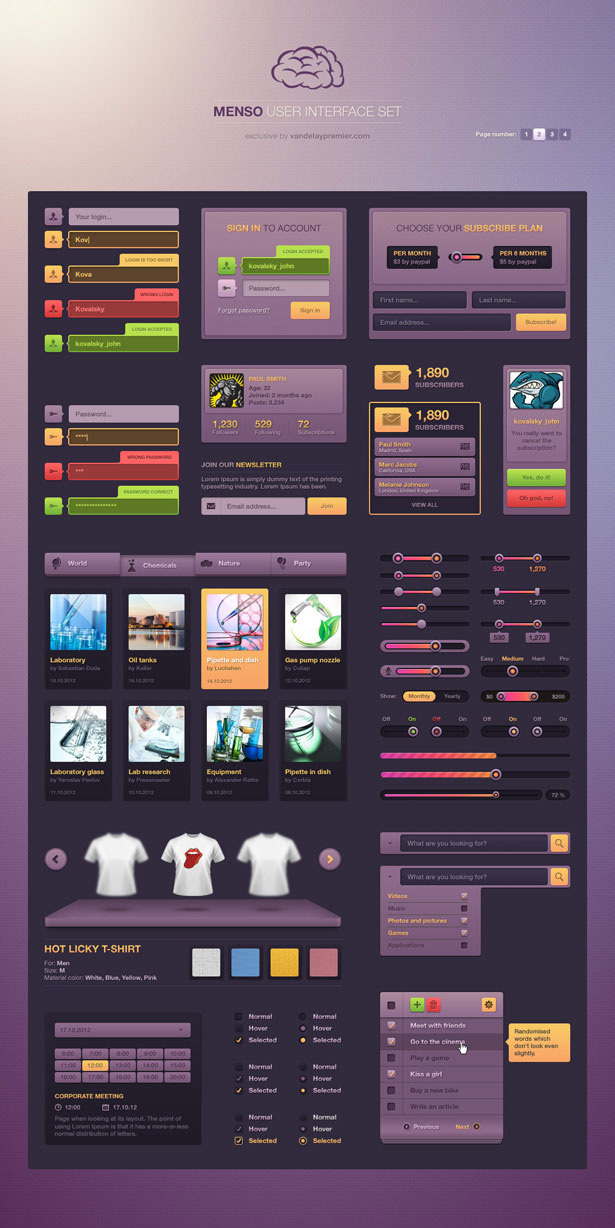 Inspired Deal of the Week: 4 Fantastic Premium UI Sets   75% off!