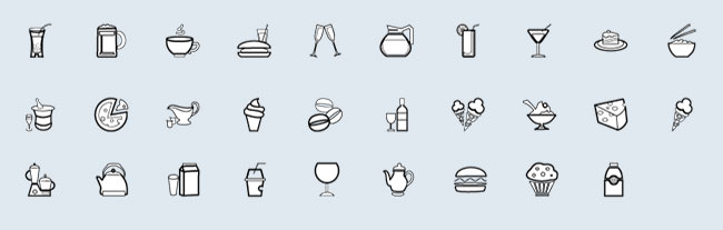 500 Unique Vector Outline Icons   only $15!