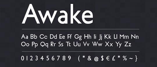 Awake Font