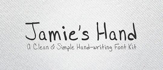 Jamies Hand Font