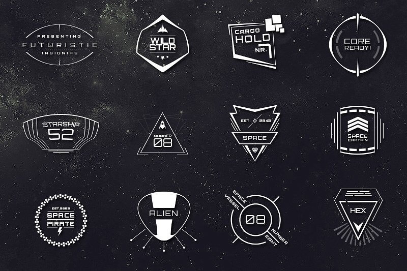 sci-fi bundle  space fonts  backgrounds  logos  ui kit - only  17