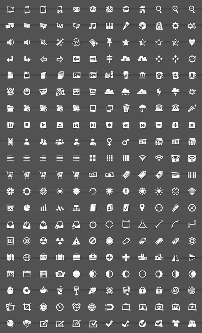 skewed icons