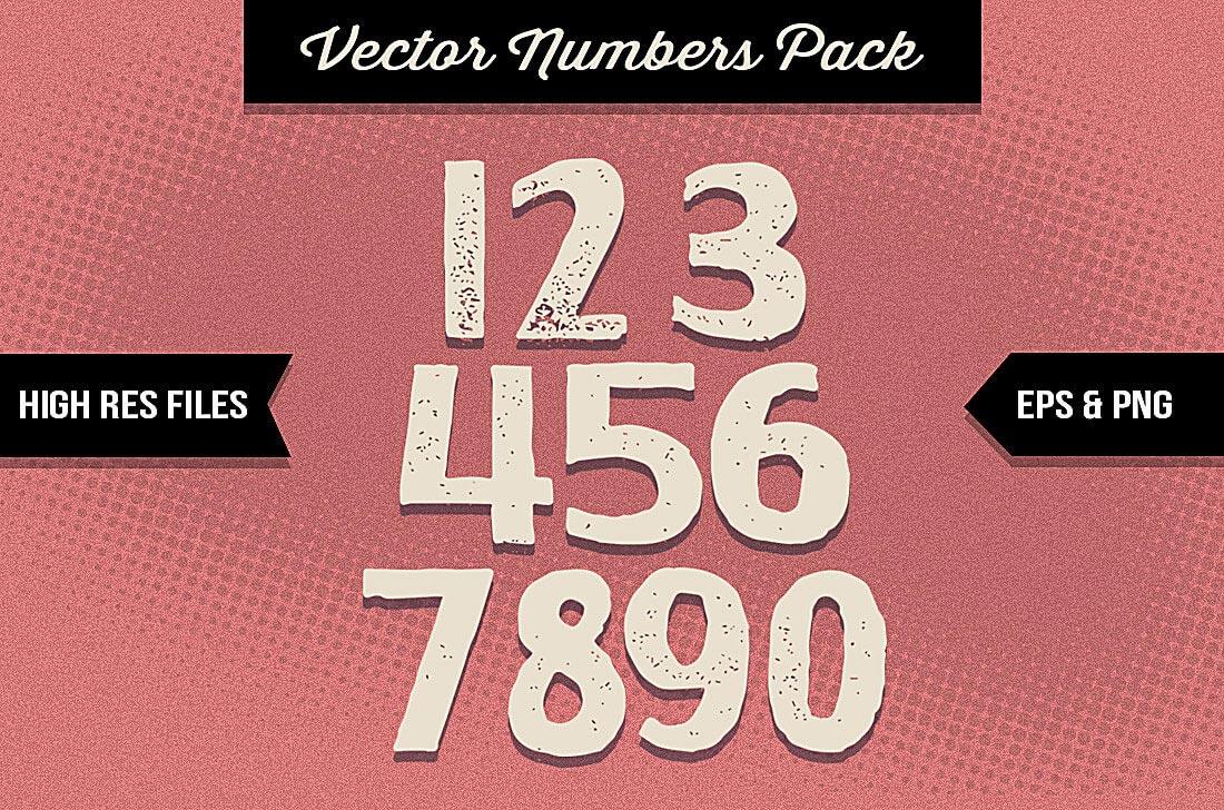 ultrashock-letterpress-numbers
