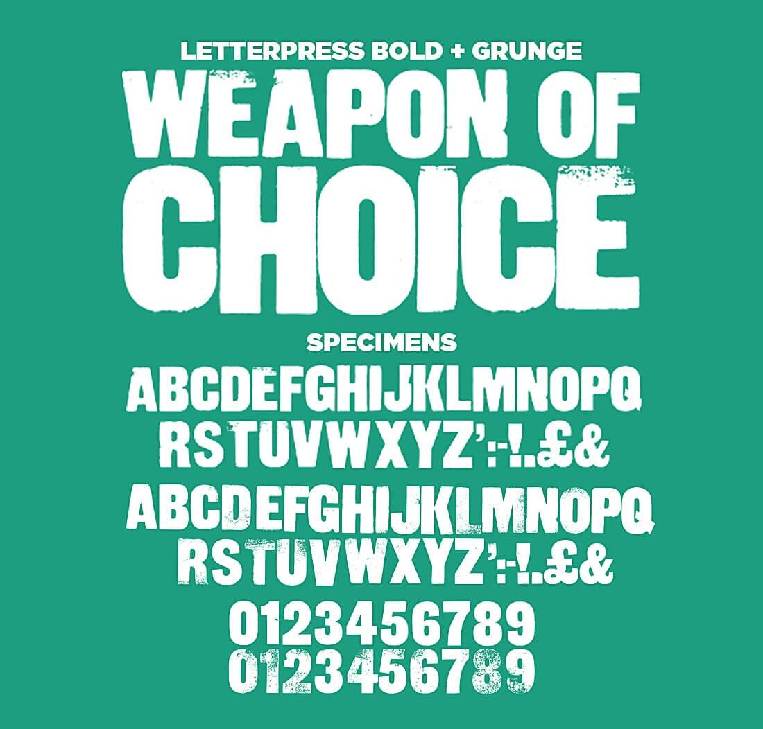 ultrashock-letterpress-vector-font