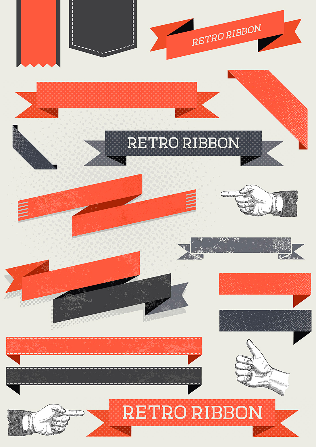 solar-seven-retro-ribbon-set