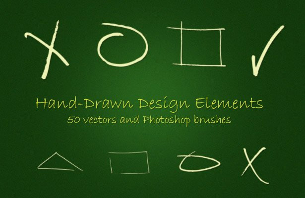 Hand-Drawn Elements Brushes