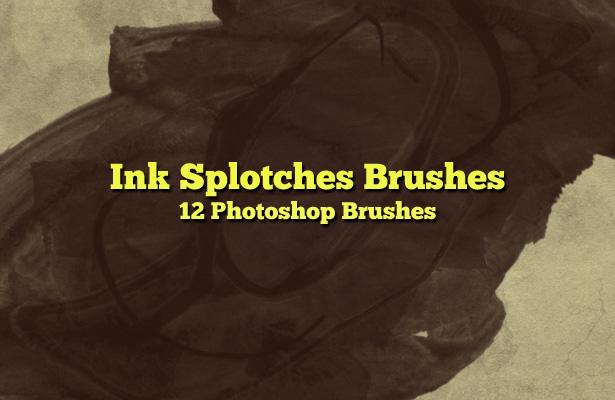 Ink Splotches Brushes