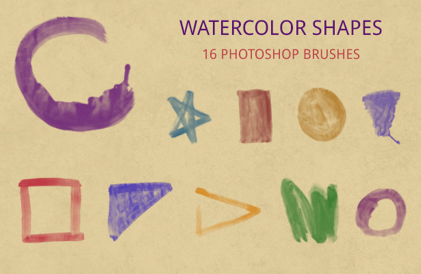 Watercolor Shapes Brushes